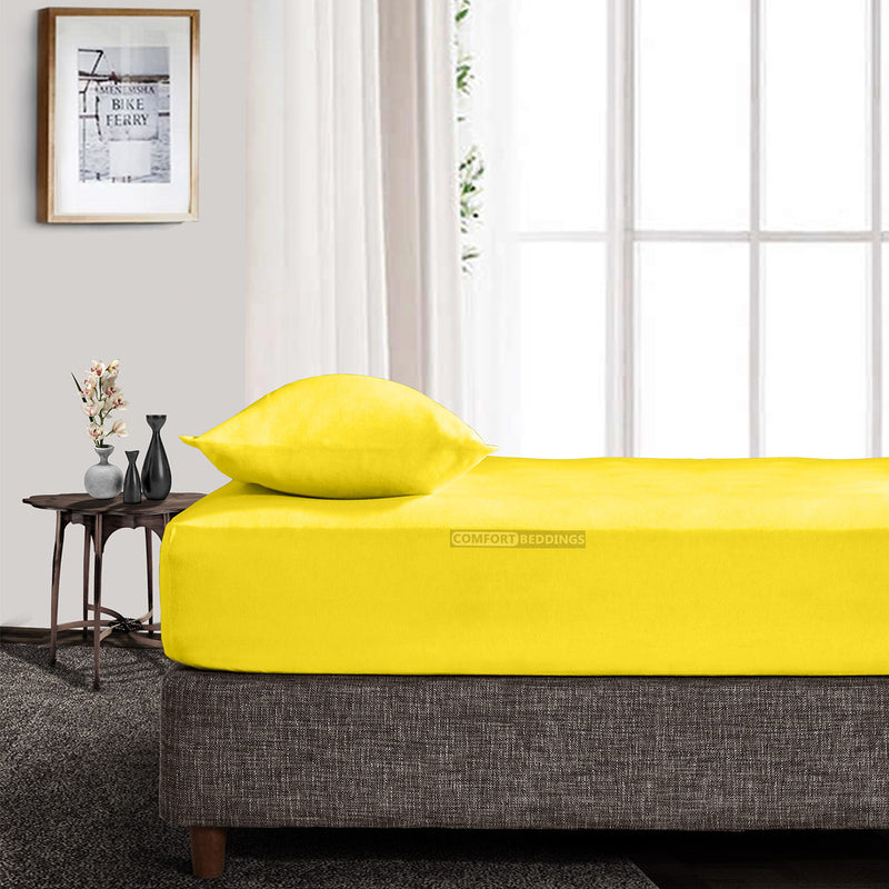 Luxury Yellow Fitted Sheet