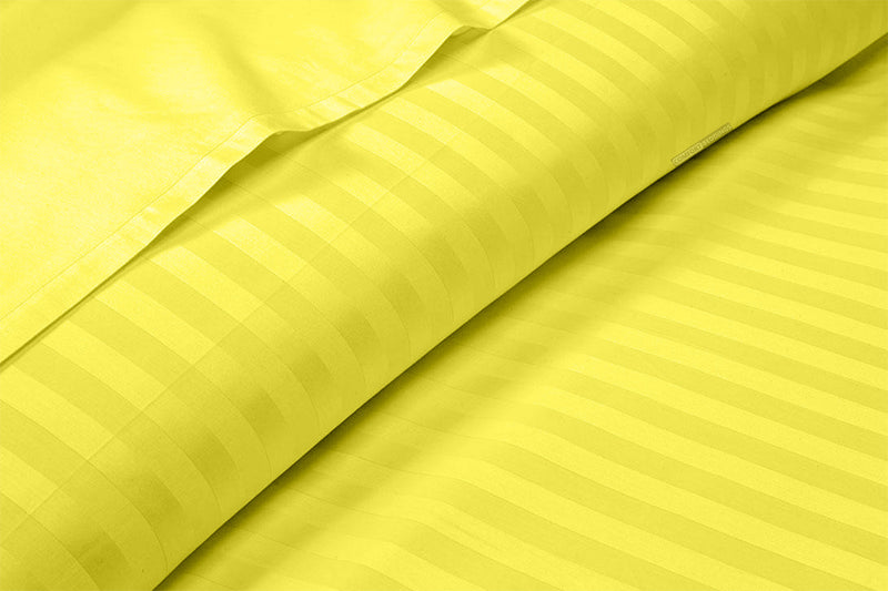 Striped Yellow Split Bed Sheets Set