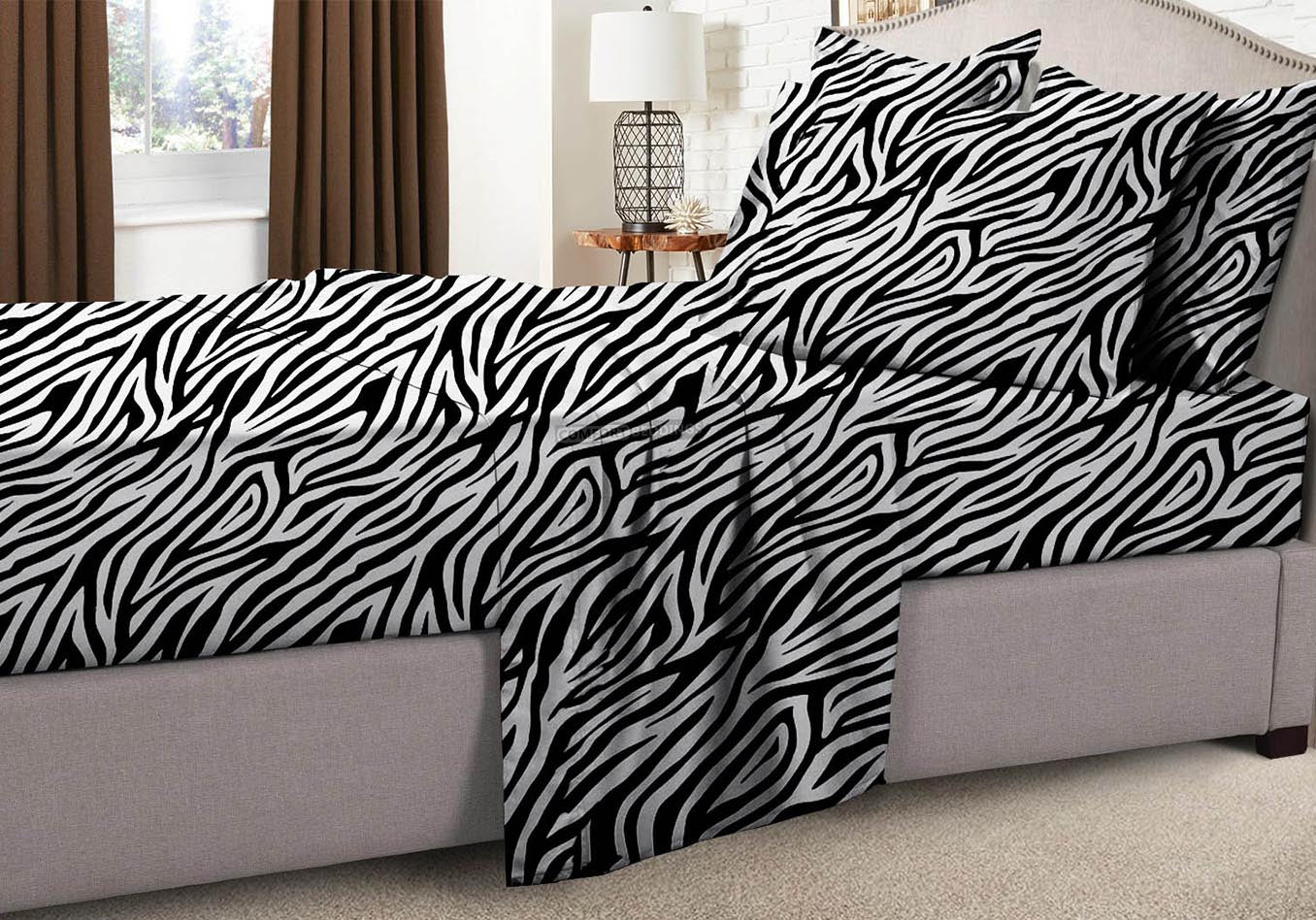 Egyptian Cotton Zebra Print Rv Bedding