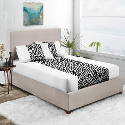 Zebra Print - White Contrast Fitted Sheets