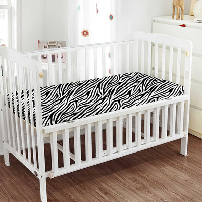 800TC Top Selling Zebra Print Fitted Crib Sheets