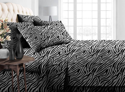 Zebra Print Bedding In a Bag Set