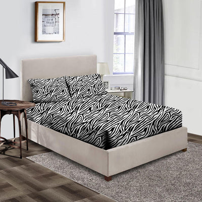 High Quality Zebra Print Fitted Sheet