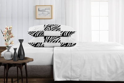 Soft luxurious zebra - white chex pillowcases