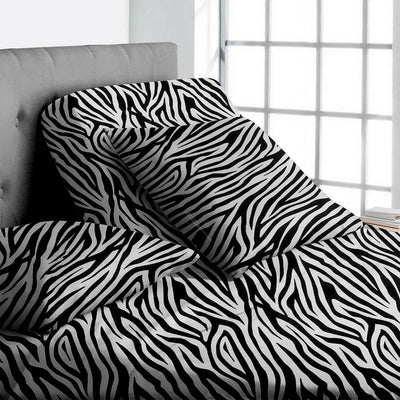 Zebra print split head king sheets - 800TC