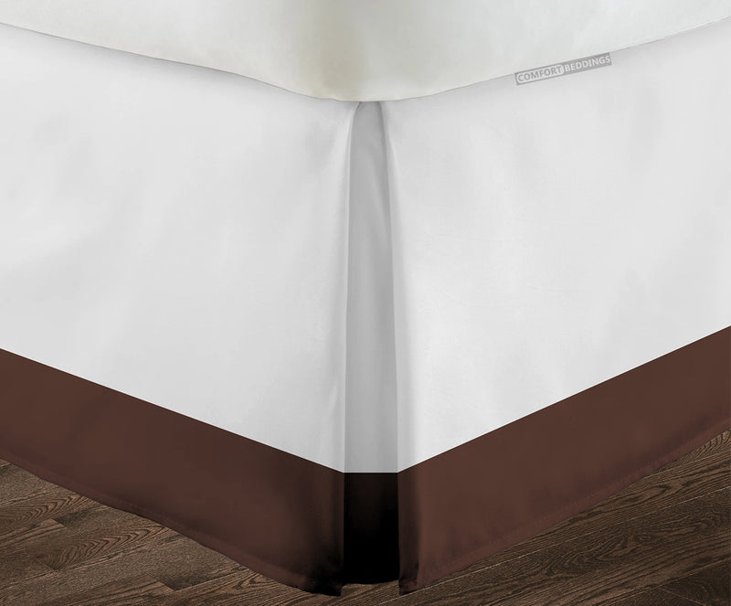 Essential chocolate two tone bed skirt