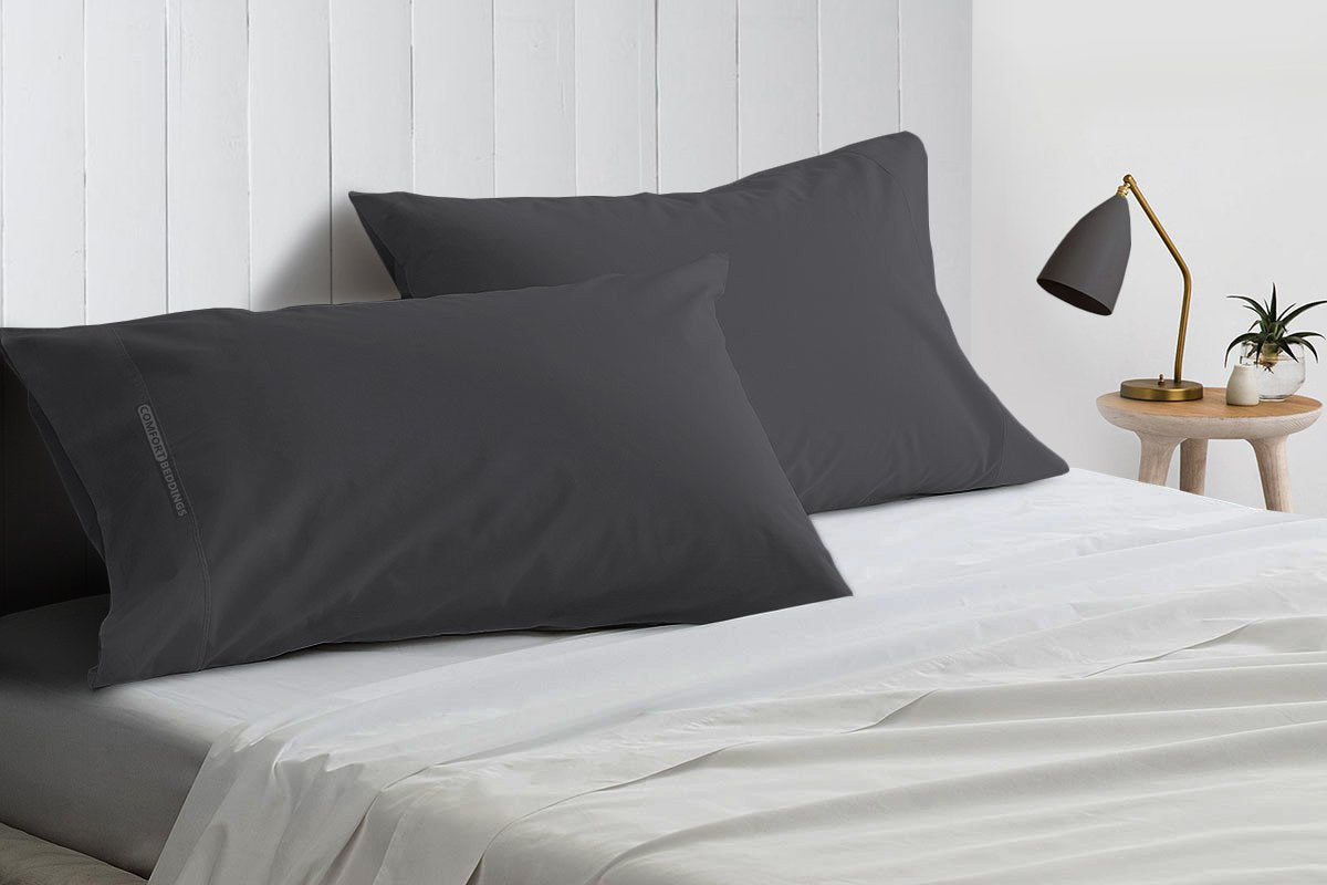 100 % Egyptian Cotton Dark Grey Pillow Cases