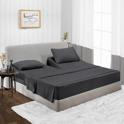 600TC Most Selling Dark Grey Split Head Sheet Set