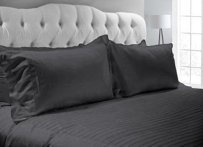 Classy Dark Gray Moroccan Streak Duvet Cover And Pillowcases