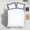 Soft Cotton Dark Grey - White Two Tone Pillow Cases