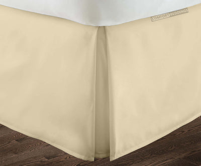 Top Quality Ivory pleated bed skirt