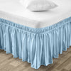 High Quality Light Blue Wrap Around bed skirt