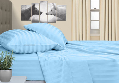 Most Selling Light Blue Striped RV Sheet Set