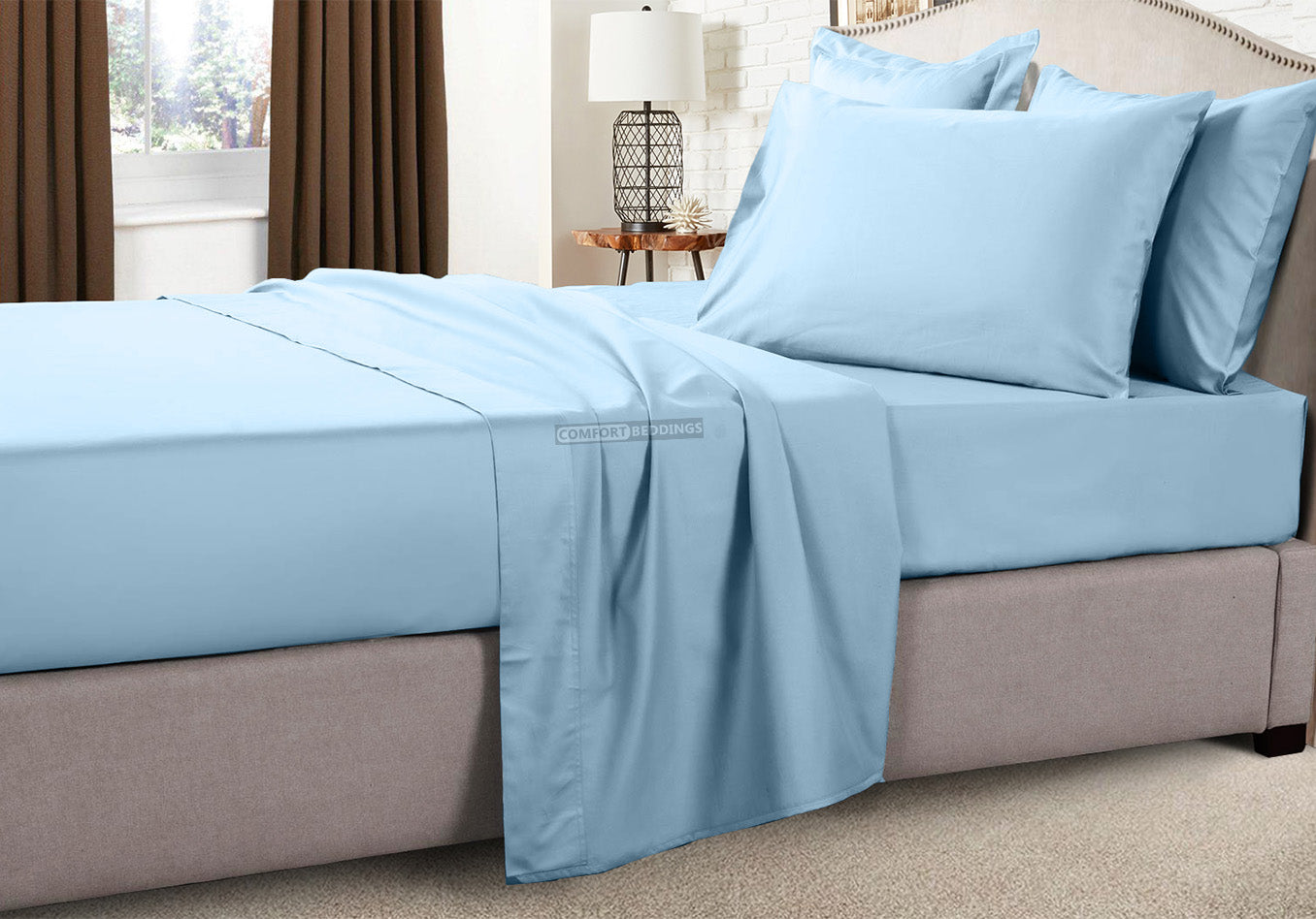 Wrinkle Free Light Blue RV Sheets