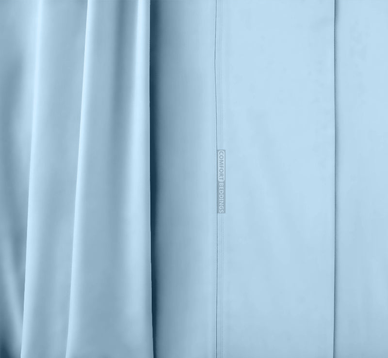 1000 Thread Count Light Blue Waterbed Sheets