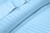 100% Egytian Cotton Light Blue Stripe Flat Sheet
