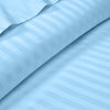 600TC Light Blue Striped Duvet Cover Set
