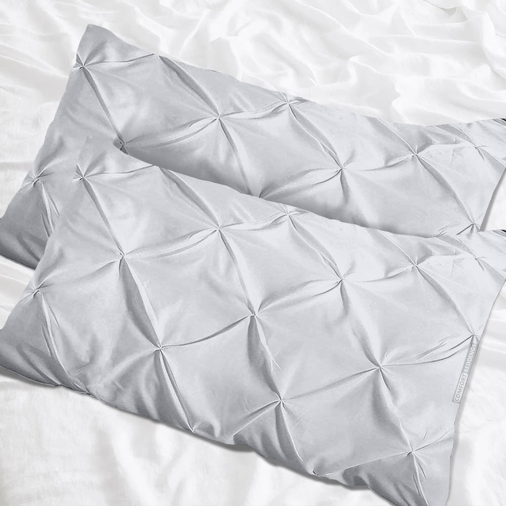 Egyptian Cotton Light Grey pinch pillow cases