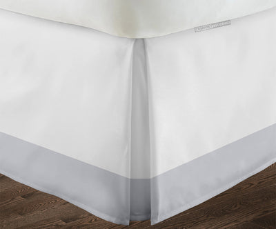 Best 100% quality light grey two tone bed skirt