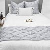 Top Selling Light grey pinch bed runner set