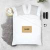 1000 TC Light Grey - white contrast pillowcases
