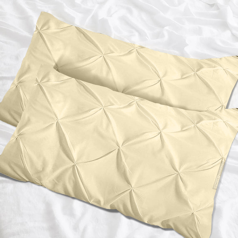 1000 TC ivory pinch pillow cases
