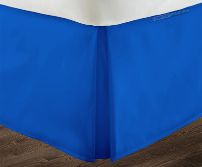 Royal Blue Pleated bed skirt - 100% Egyptian Cotton