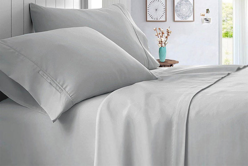 Solid - 1000 Thread Count Light Grey Sheet Set