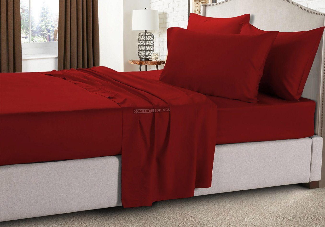 Solid - Burgundy RV Bunk Sheet Set