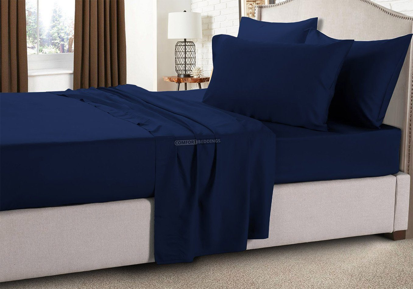 Navy blue sheets queen