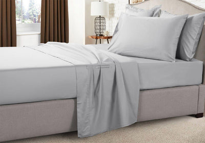 Solid - Luxury Soft 100% Egyptian Cotton Light Grey RV Sheets