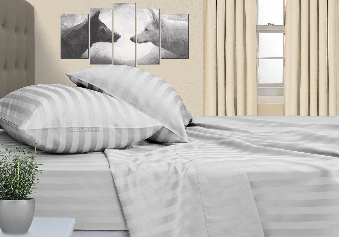 Stripe - Light Grey Striped RV Sheet Set