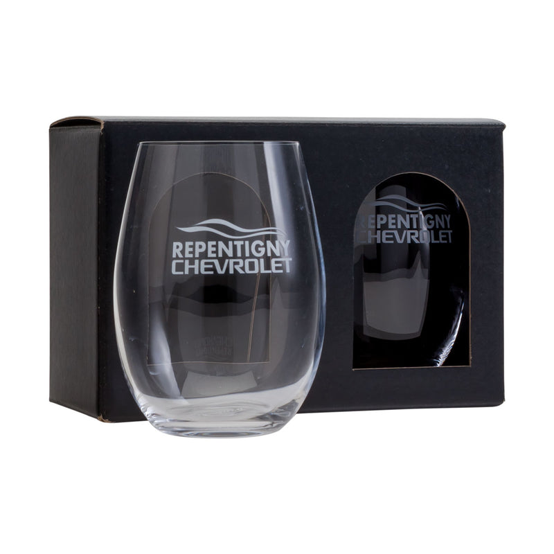 Corporate gift - 2 stemless glasses