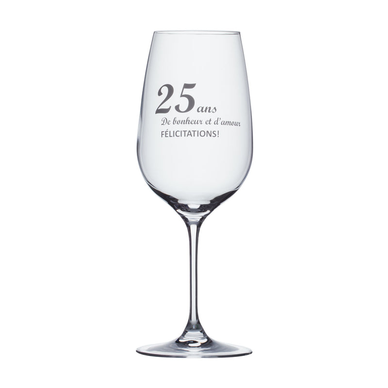 Wine Glass - 25 ans d'amour...