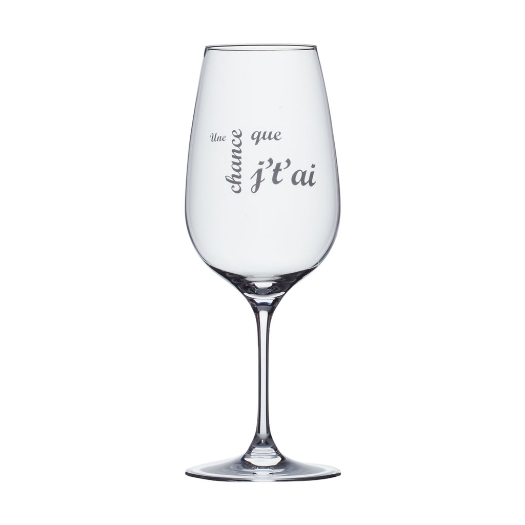 Wine glass in a gift box
