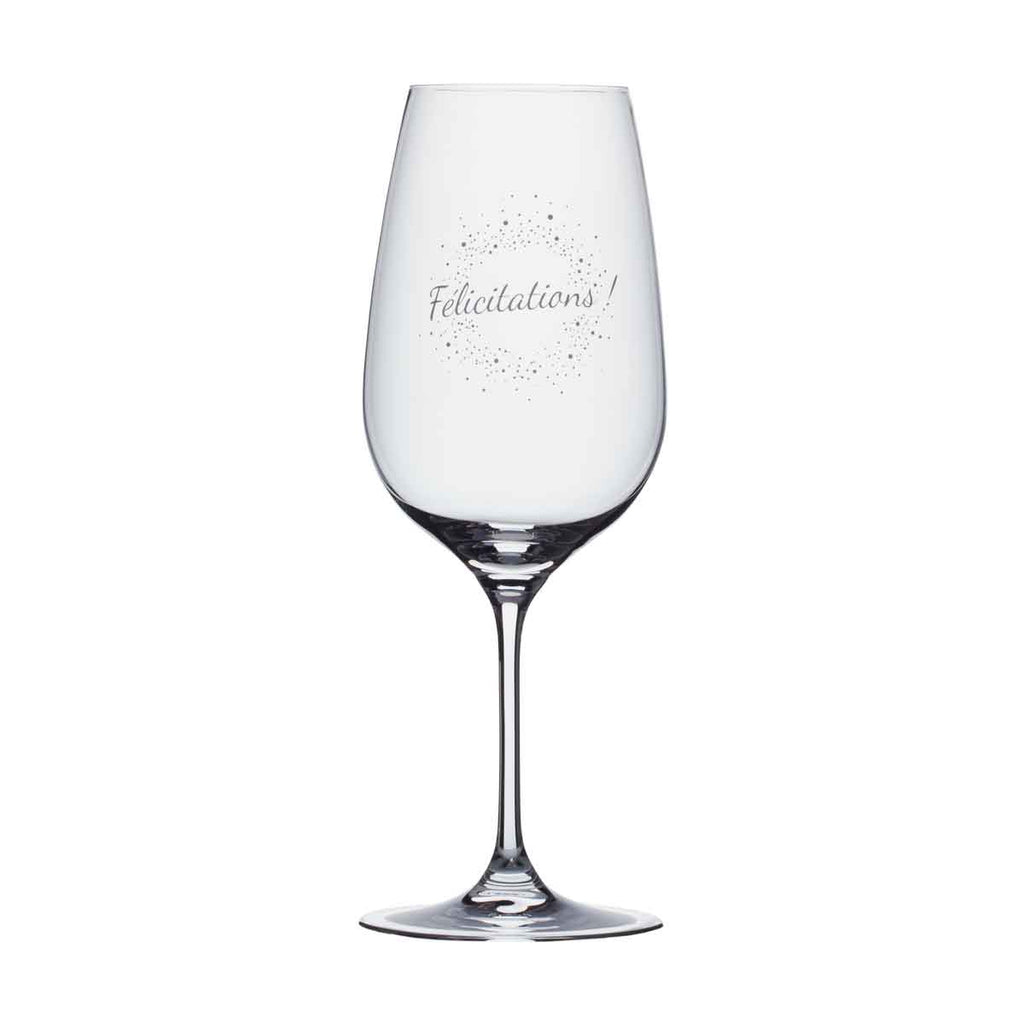 Wine Glass - Félicitations!