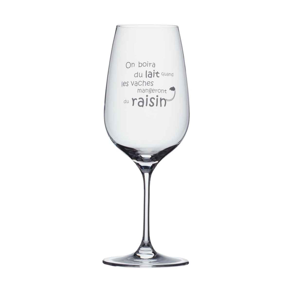 Wine Glass - On boira du lait...