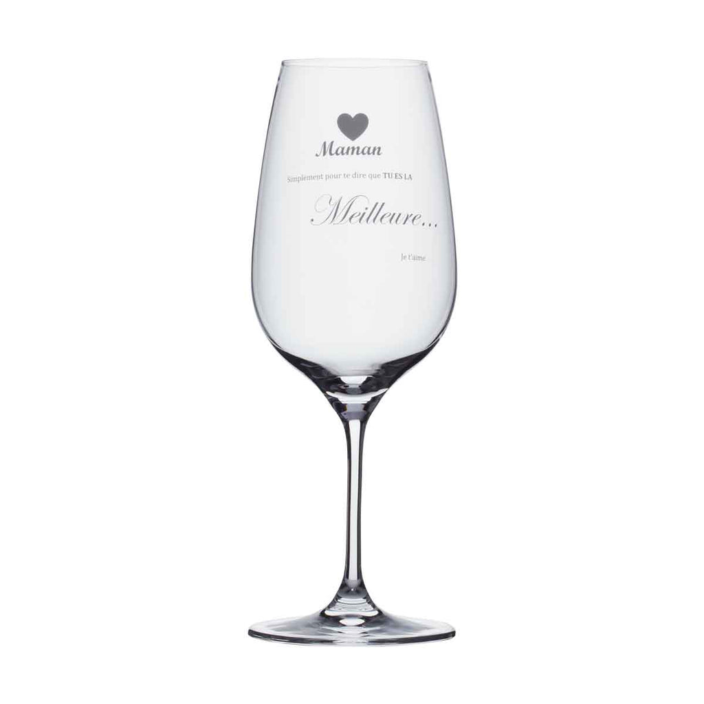 Wine Glass - Maman simplement pour te dire...