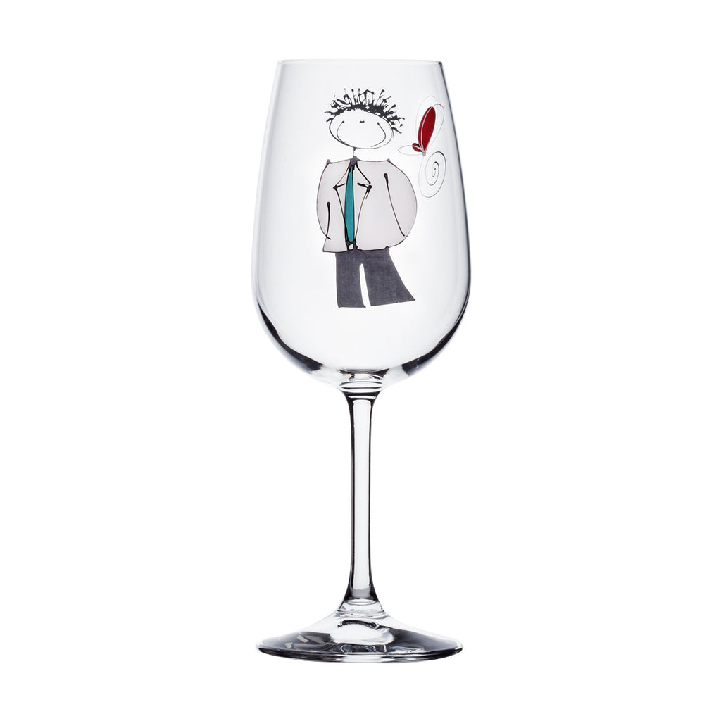 Wine Glass - Boy with white jacket