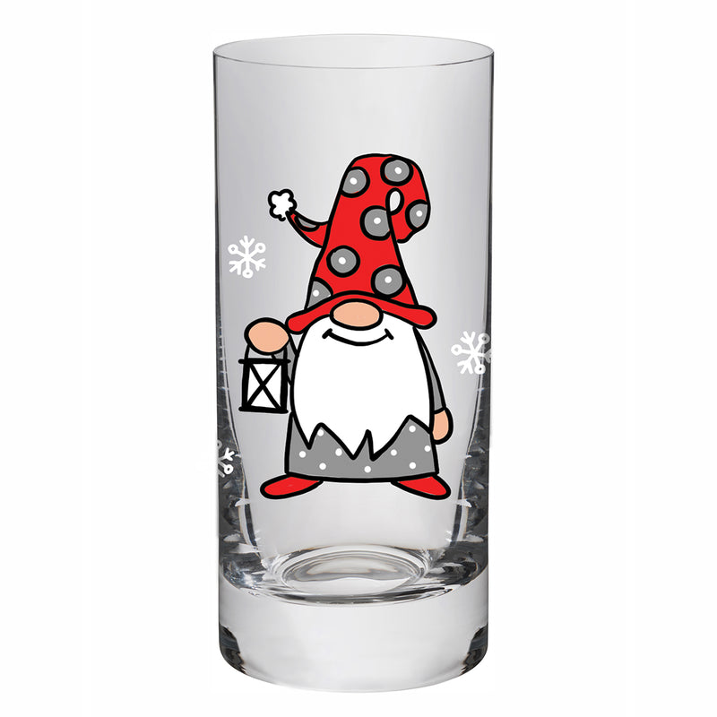 Glass with Gnome holding a Lantern