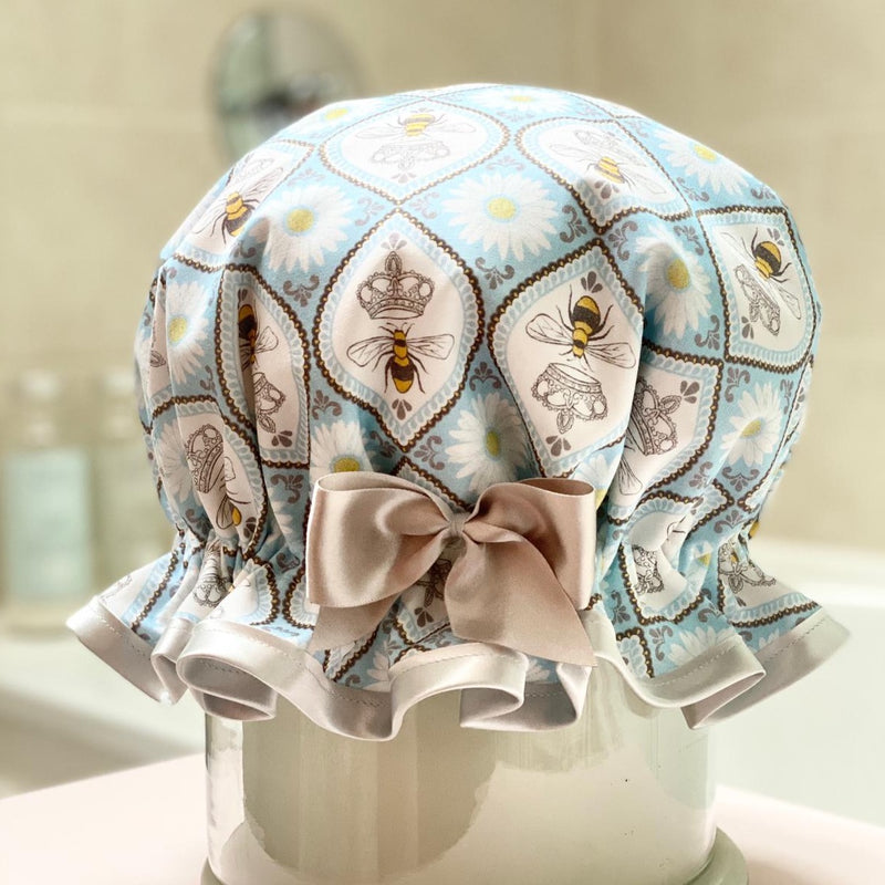 Queen B Satin Shower Cap