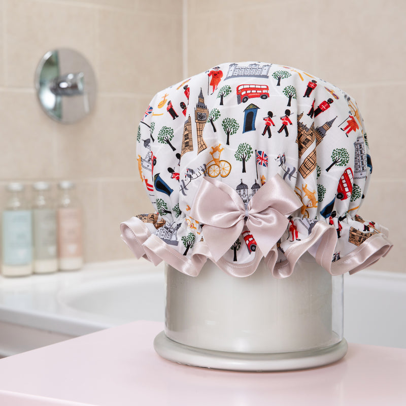 Child's 'London Calling' Waterproof Shower Cap