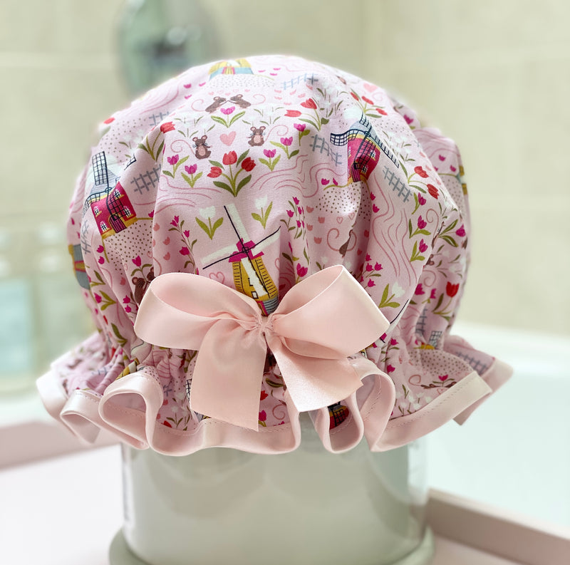 Tulips from Amsterdam Luxury Shower Cap