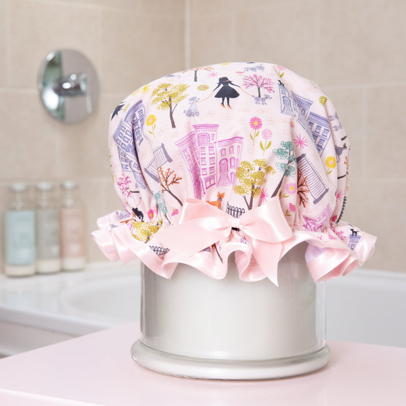 Poodles in the Park Waterproof Shower Cap