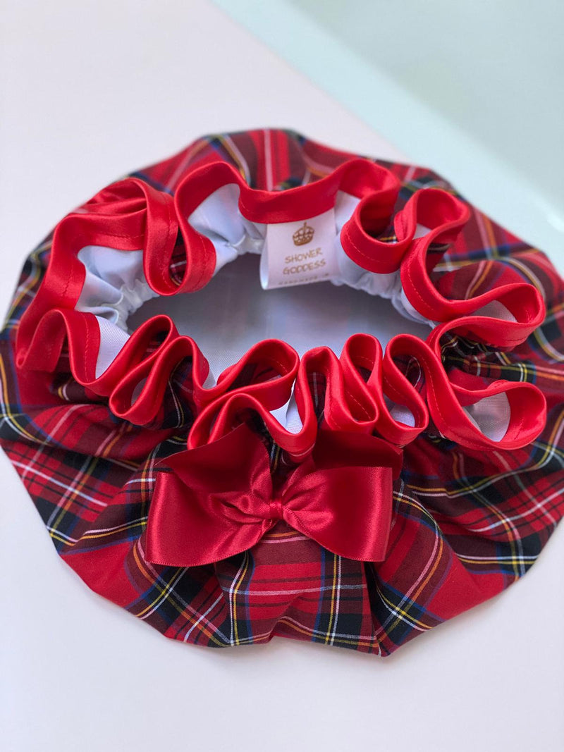 Royal Stewart Tartan Waterproof Shower Cap