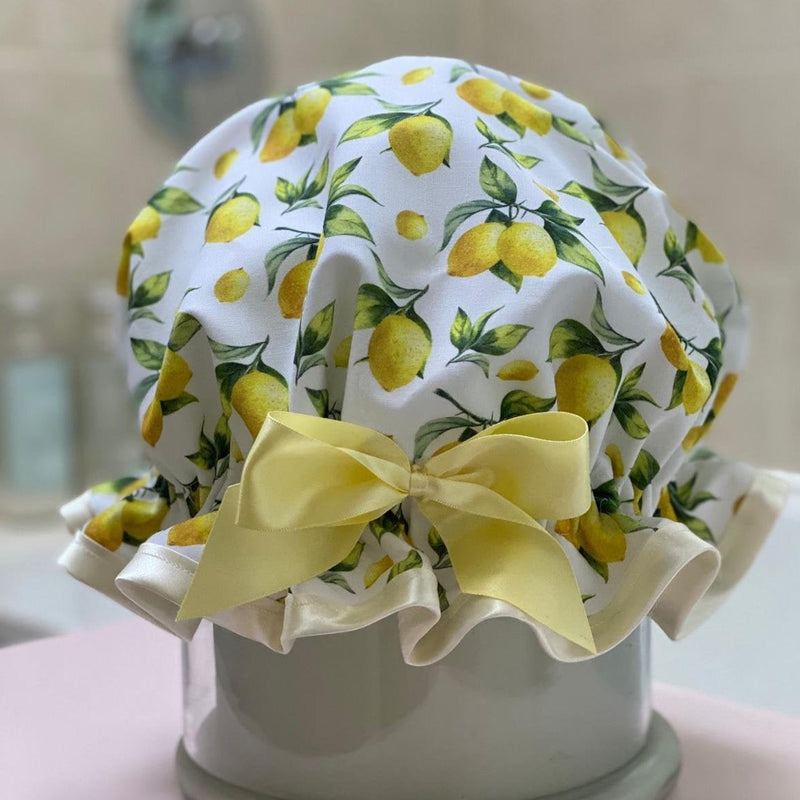 Lemon Sorbet Shower Cap