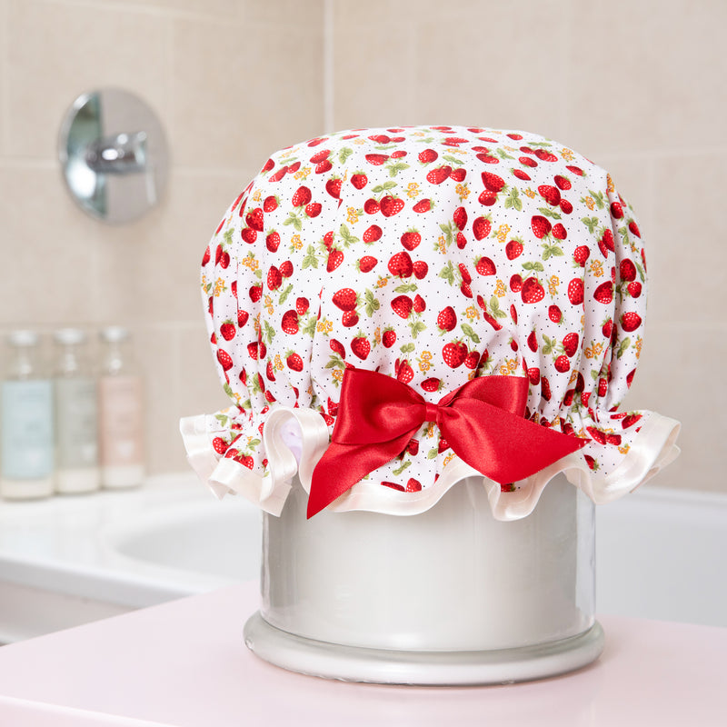 Strawberry Waterproof Shower Cap