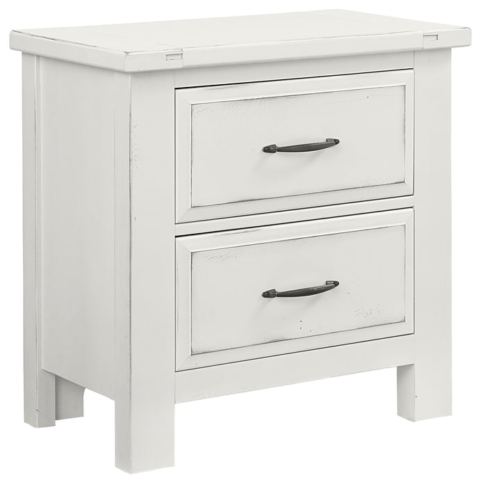 Maple Road White Nightstand