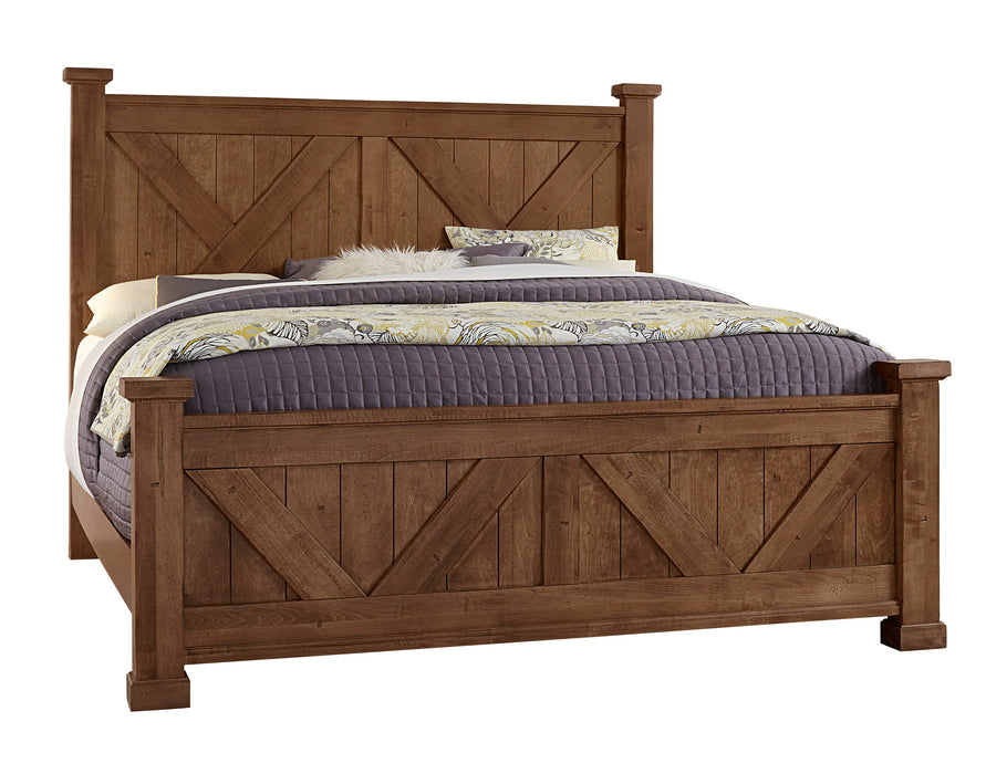 Cool Rustic Amber Queen X Bed with X footboard