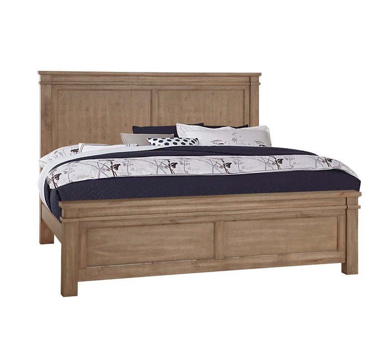Cool Rustic Natural Queen Mansion Bed with Platform Base